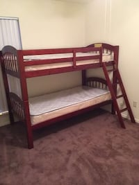 Cherry Wood Twin / Twin Bunk Bed. Brand New. Houston, 77074