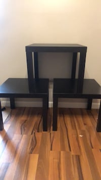 two black wooden side tables Coral Springs, 33065