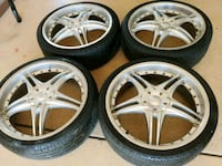 """20""""s inch rims / tires 5 lug nuts  North Palm Springs, 92258"""