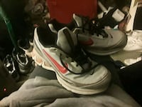 pair of white-and-black Nike basketball shoes Tulsa, 74110