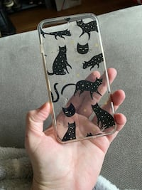 Clear, Sturdy Black Cat Phone Case for 7+ & 8+ IPhones
