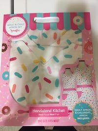 Adult and child apron set- sprinkles  31 km