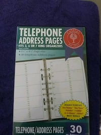 Phone address pages.  Dumfries, VA, USA