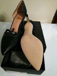 pair of black leather heeled shoes Capitol Heights, 20743