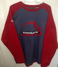 Fanshawe Falcons Adidas Fleece Lined Warm Up Top Size XL London