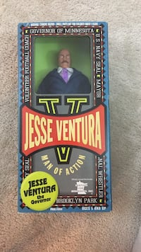 Jesse ventura action figure new mint in package.