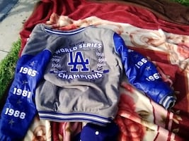 New dodgers jacket with the world series logo