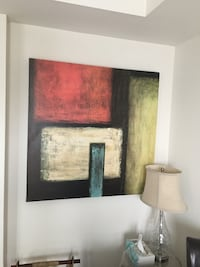 Large Canvas Abstract Painting / Bombay Toronto, M1R 3A7