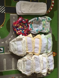 12 couches lavable kushies avec 8 inserts/kushies baby diapers 799 km