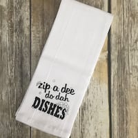 Custom dish towels