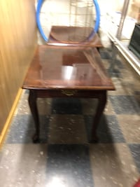 brown wooden framed glass top table South Bend, 46635