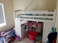 white wooden loft bed with mattress Paisley, N0G 2N0