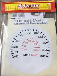 Ford - Mustang SPEEDOMETER Stickers Resturo 1983-1986 Woodlyn, 19094
