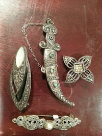Vintage Sterling silver pins Great Neck, 11021