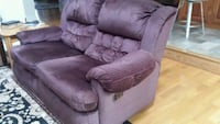 purple fabric recliner sofa chair Clifton, 20124
