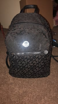 Black Tommy Hilfiger leather backpack Rancho Cordova, 95827