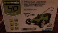 Brand new Greenworks 20-Inch 40V Twin Force Cordless Lawn Mower, 4.0 AH & 2.0 AH Batteries Included. Model 25302 Ashburn, 20147