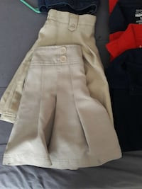 women's two white and beige skirts