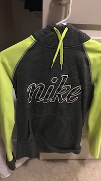 Black and green Nike pullover hoodie