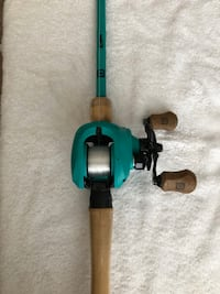 13 fishing Rod and Reel Combo. 7ft Rod. Works great. Lightly used.