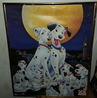 101 Dalmatian movie poster with brown wooden frame Omaha, 68111