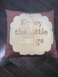 Throw Pillow - Enjoy the little things  Boston, 02126