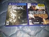 Fallout 4 and Battlefield PS4 game cases