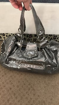 grey snakeskin GUCCI tote bag