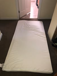 3 inch twin bed mattress topper, lightly used, cleaned.  Frederick, 21701