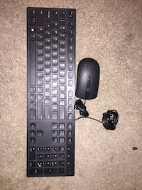 black Logitech corded computer keyboard and mouse Washington, 20010