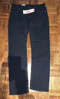 Levi's 511 slim fit jeans. Black. New. 34 waist/30 length. Tags on Richmond Hill, L4B 2L2