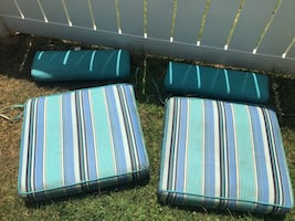 Large patio chair cushions set