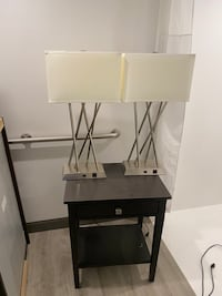 Night stand and lamps 2 each or best offer Arlington, 22202