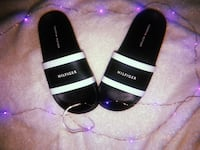 Black-and-white tommy slide sandals Los Angeles, 91304