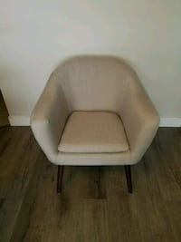 white leather padded sofa chair Vancouver, V5N 4B3