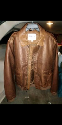 Leather aviator jacket 2x Suitland-Silver Hill