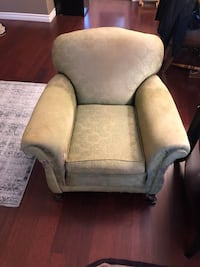 gray fabric sofa chair with throw pillow Port Coquitlam, V3B 8G6