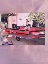 Boat with motor