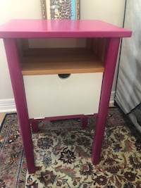 Pink side table