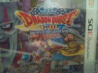 Nintendo 3DS Dragon Quest Journey of The Cursed King game case
