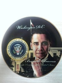 Obama commemorative plate Manassas Park, 20111