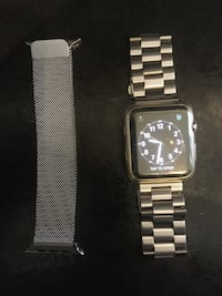 2nd series in silver comes with an extra strap watch is in immaculate condition no scratches or marks on the large 42mm screen comes with 2 protective screen covers too boxed with charger Lincoln, LN4 1LL