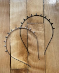 Metal black and silver headbands with spikes