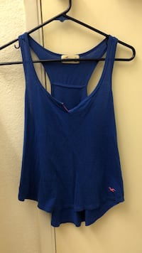 blue hollister tank top (size xs or s)
