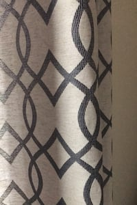 Curtains-blue and gray pattern (2 panels) Houston, 77063