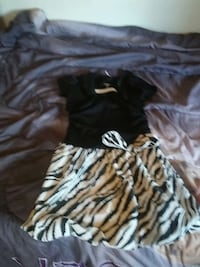 black and white zebra print skirt and black top Winter Haven, 33880