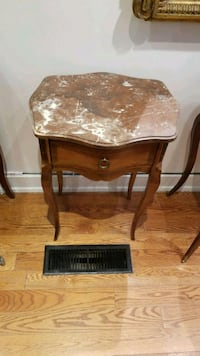 Pair of marble top side tables Toronto, M5R 1J2