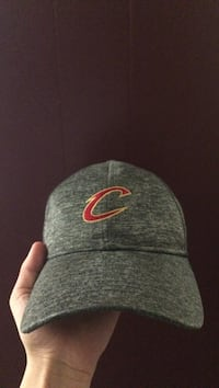 heather gray Cleveland Cavaliers curved-brimmed cap Brandon, R7A