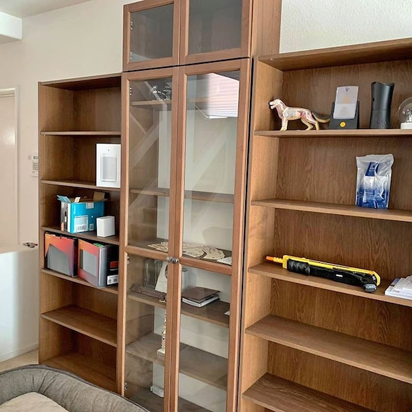 Buy For Delivery Before Aug 01 4 Pm Ikea Bookcases With Extension Top And Glass Doors