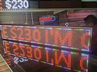 LED sign 8in x 39 in colored San Antonio, 78252